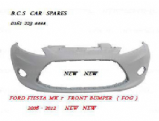 FORD FIESTA MK 8  FRONT BUMPER  08  - 09 - 10  11   REG       NEW  NEW    ( FOG LIGHT TYPE )